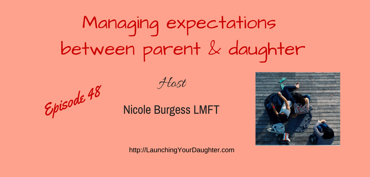 Managing expectations and letting go in families